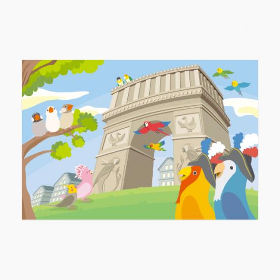 ポストカード(鳥と世界-フランス編-)