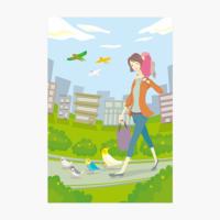 ポストカード(鳥と出かけよう)