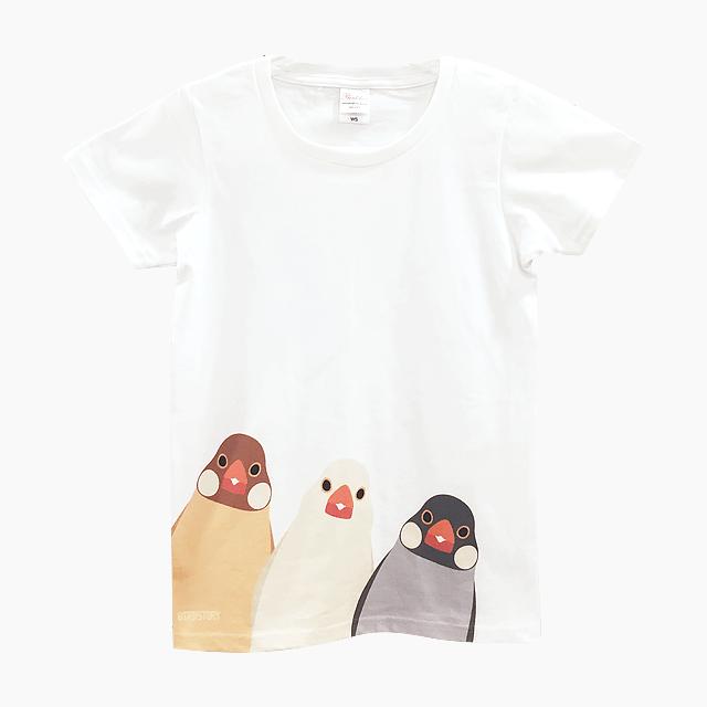 SMILE BIRD Tシャツ(文鳥)