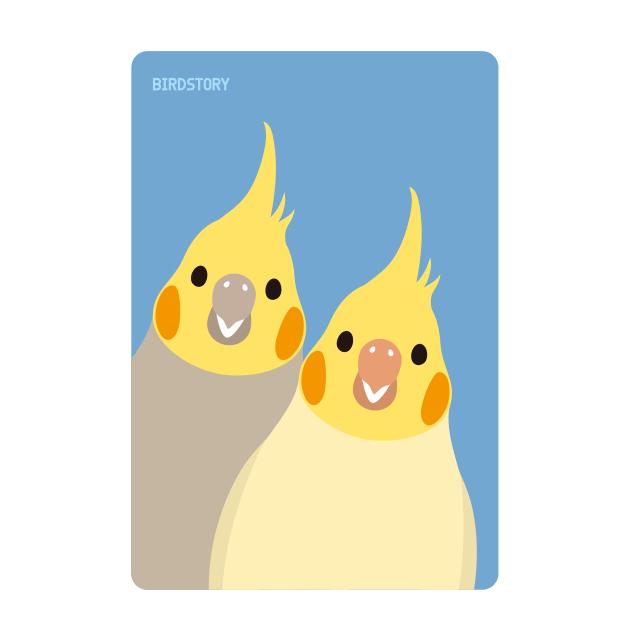 SMILE BIRD パスケース(オカメインコ)
