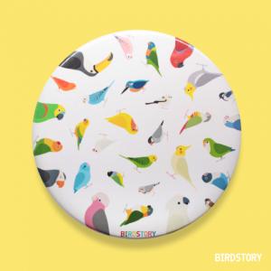BIRD!BIRD!BIRD! 缶ミラー(ホワイト)