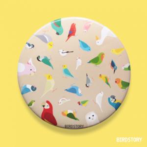 BIRD!BIRD!BIRD! 缶ミラー(ブラウン