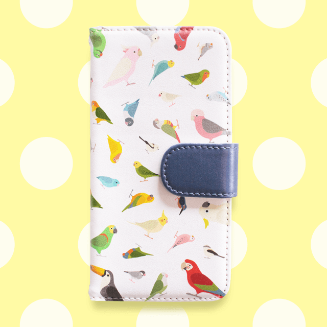BIRD!BIRD!BIRD! 手帳型スマートフォンケース(ネイビー)