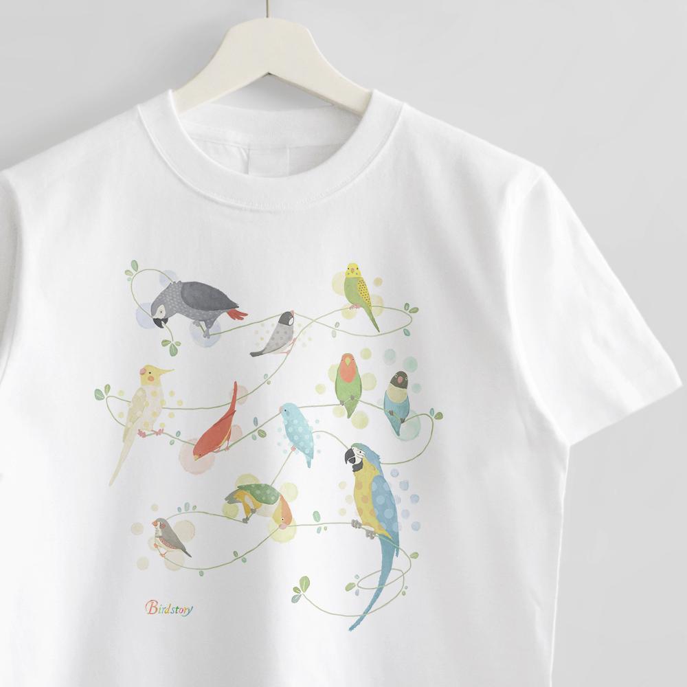 Tシャツ Natural Bird ヨウムやコンゴウインコデザイン