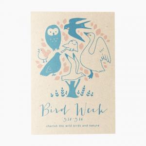 ポストカード(Bird Week 愛鳥週間)