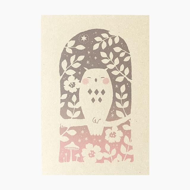 ポストカード(ふくふくろう)