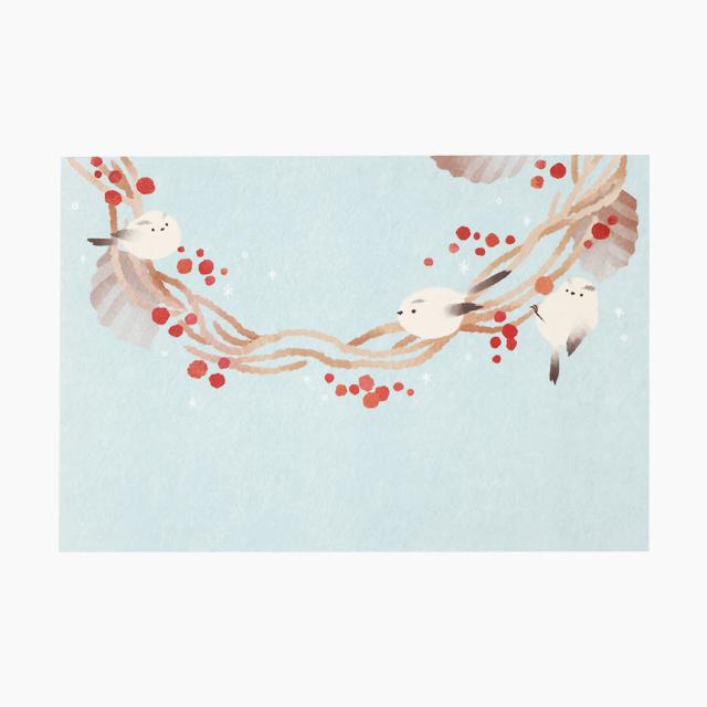 ポストカード(小鳥のリース)