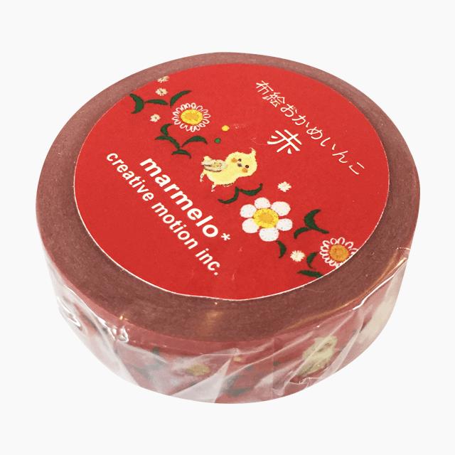 布絵おかめいんこ(赤)マスキングテープ