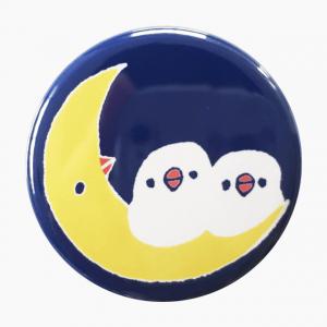 月と文鳥 マグネット