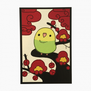 花札シリーズ(梅)ポストカード