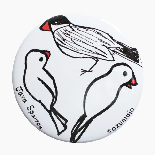 Java Sparrow 缶バッジ