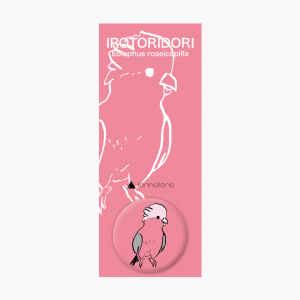 IROTORIDORI 缶バッジ(モモイロインコ)