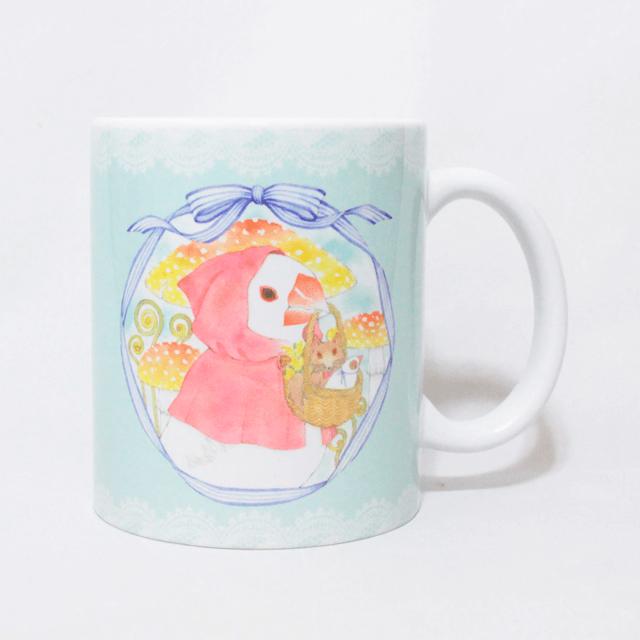 赤ずきん文鳥さん マグカップ