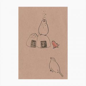 ポストカード(ごま塩)