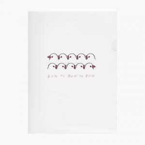 ペーパーファイル(白文鳥)
