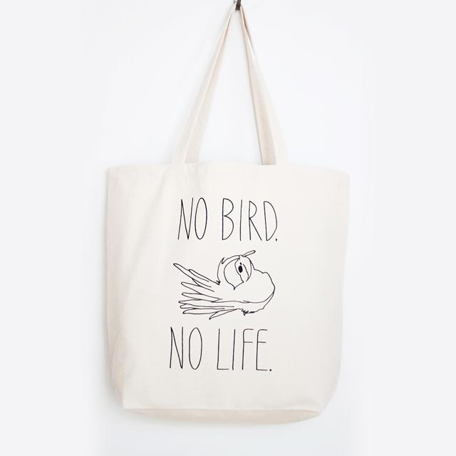 小鳥のいない人生なんて!トートバッグL