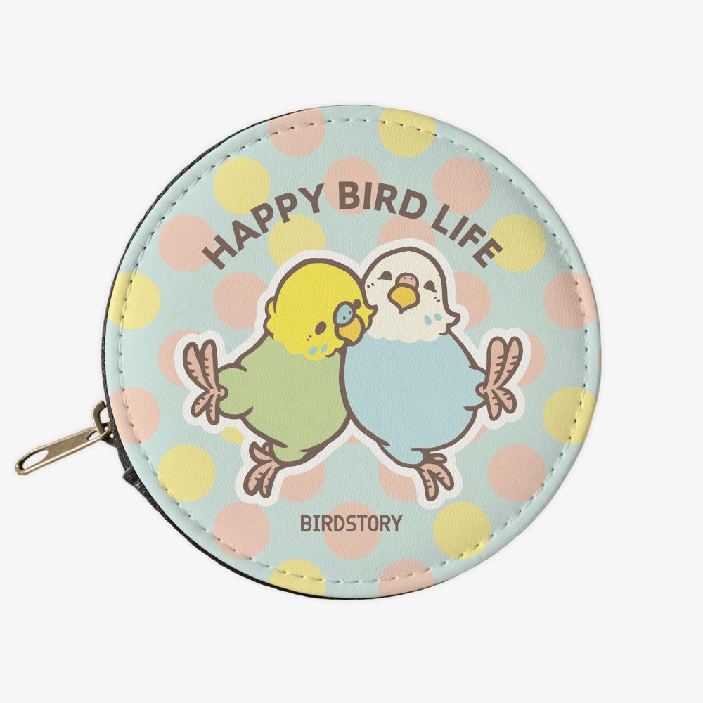 コインケース(HAPPY BIRD LIFE / セキセイインコ)小銭入れ財布