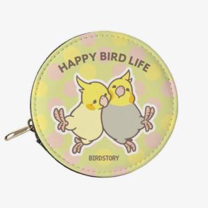 コインケース(HAPPY BIRD LIFE / オカメインコ)オウム大好き