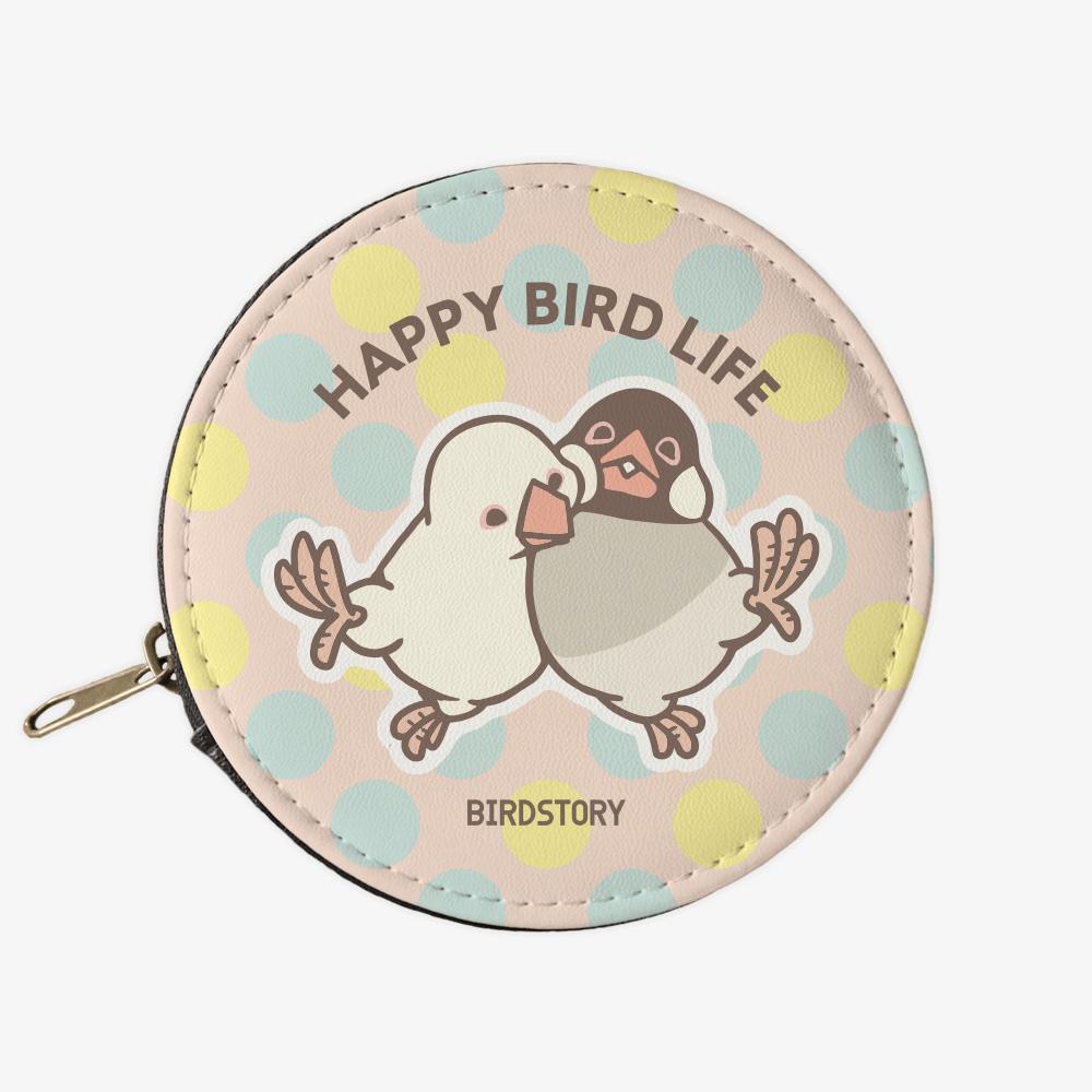 コインケース(HAPPY BIRD LIFE / 文鳥)小物入れに便利