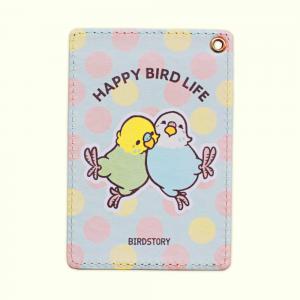 パスケース(HAPPY BIRD LIFE / セキセイインコ)