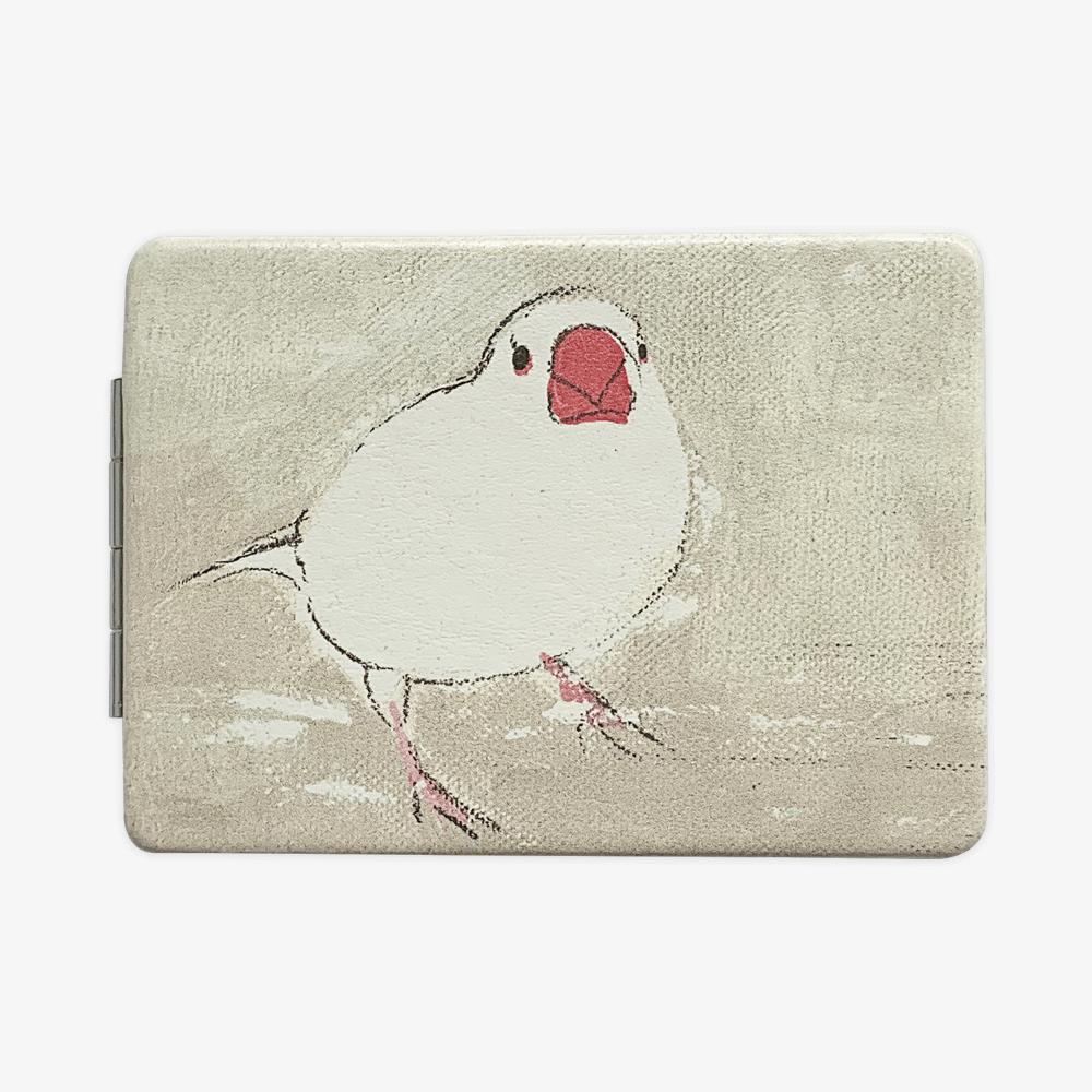 折りたたみミラー(オクムラミチヨ / 文鳥)