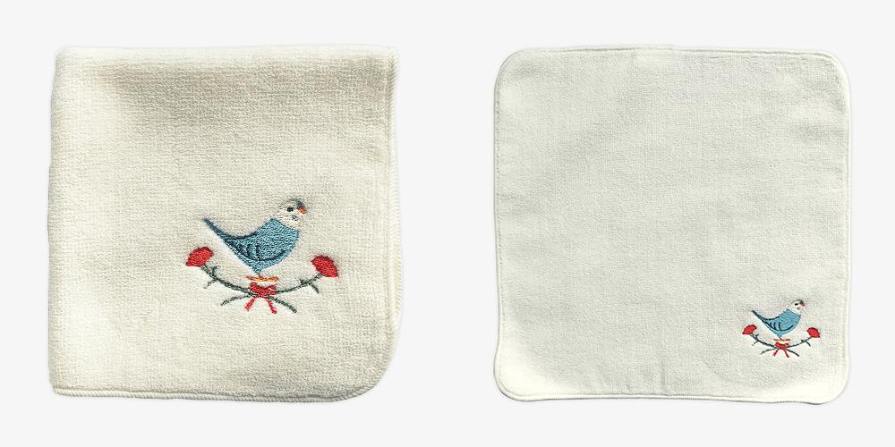 BIRDSTORY 母の日オリジナル 刺繍ミニタオル