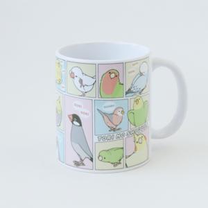 とりの仕草 コミックマンガ風デザイン イラストBIRDSTORY マグカップ