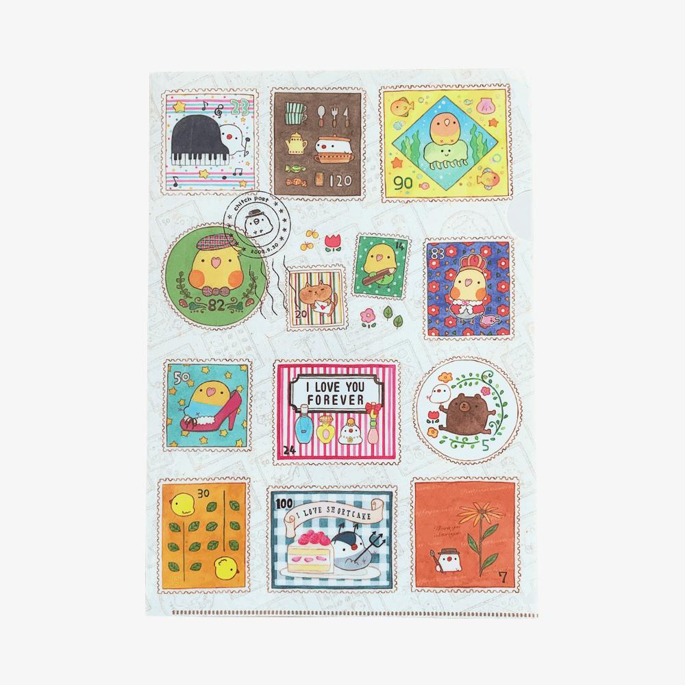 chitch クリアファイルA4(stamps)