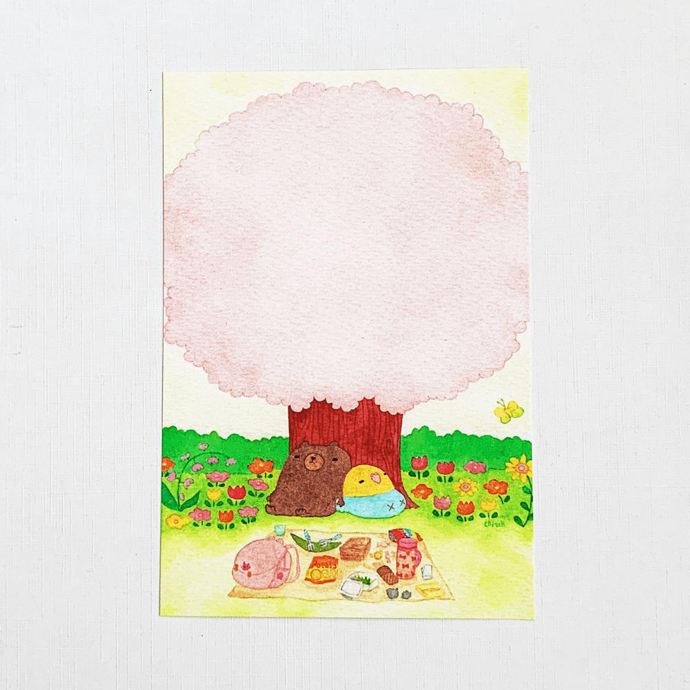 chitch ポストカード(春のお昼寝)