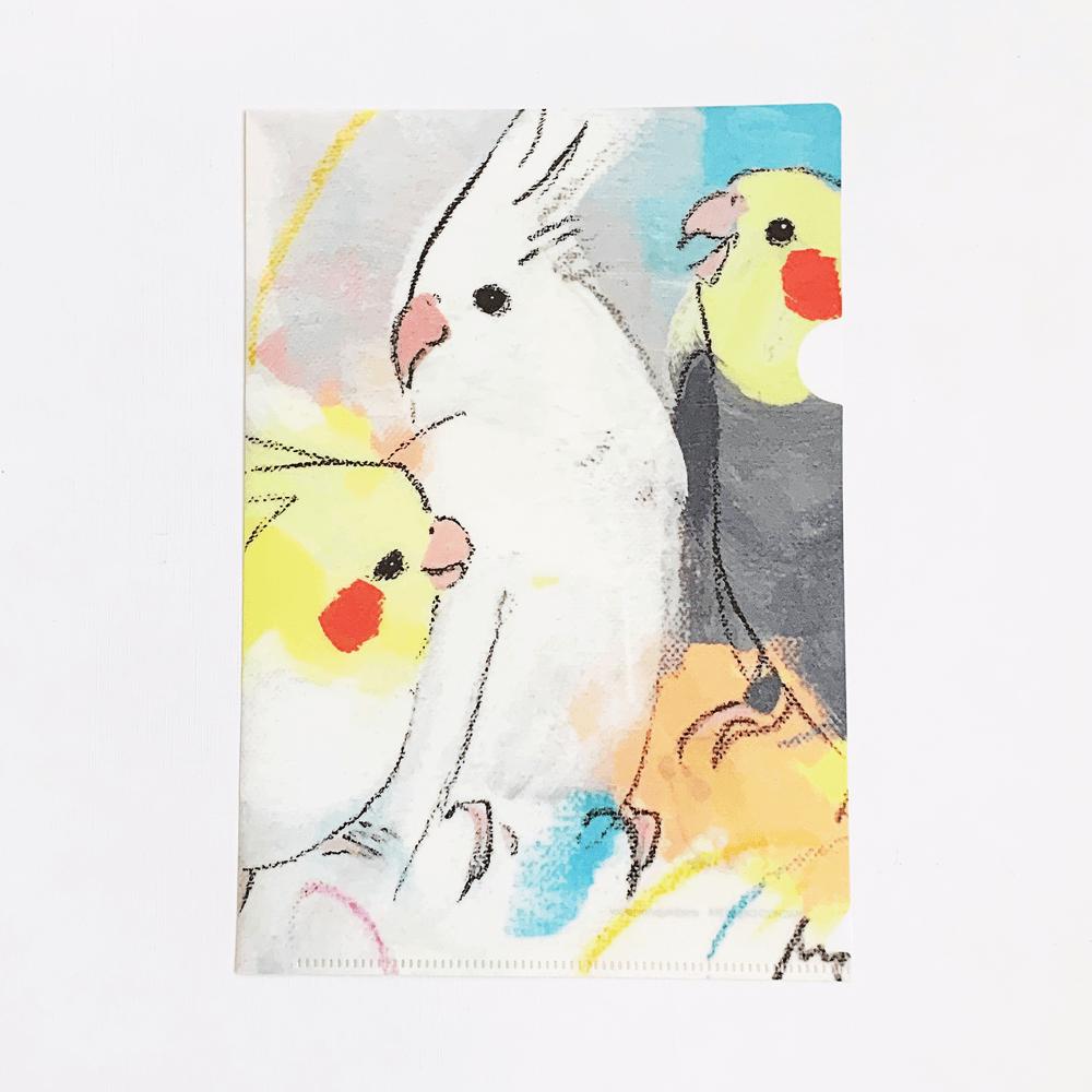 オクムラミチヨ A5クリアファイル(Smile -オカメインコ-)