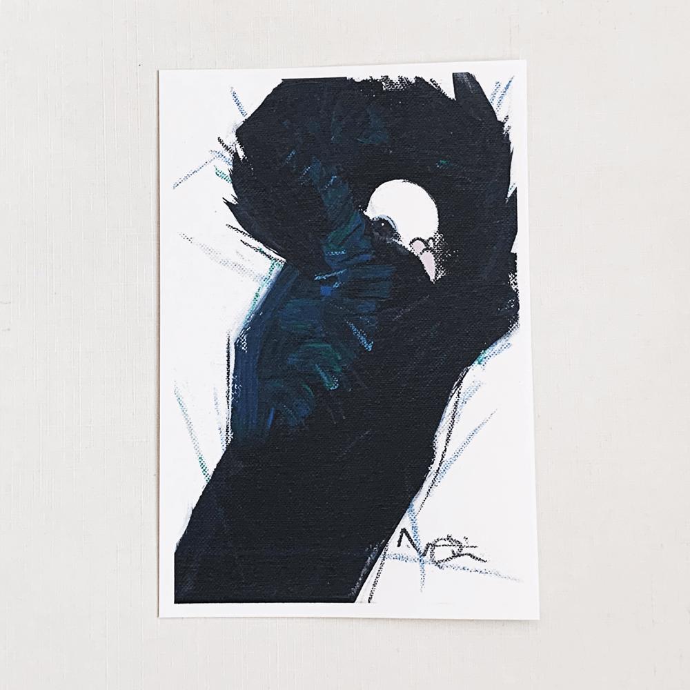 ポストカード(オクムラミチヨ / 鳩)