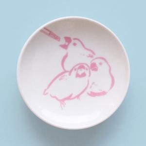文鳥の成長を見守る豆皿(雛)