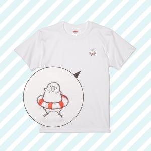 刺繍Tシャツ(ことり×うきわ / セキセイインコ)
