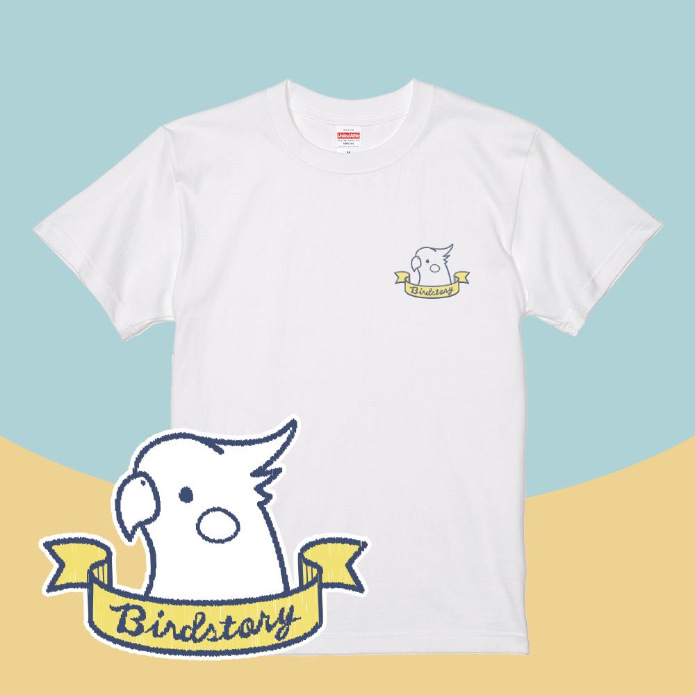 シンプルデザインTシャツ刺繍 オカメインコ