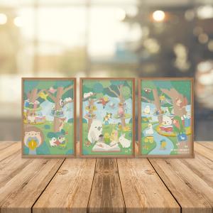 つながるポストカード BIRDLIBRARY バードライブラリー 森の図書館