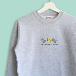 スウェット トレーナー コザクラインコのシンプル刺繍