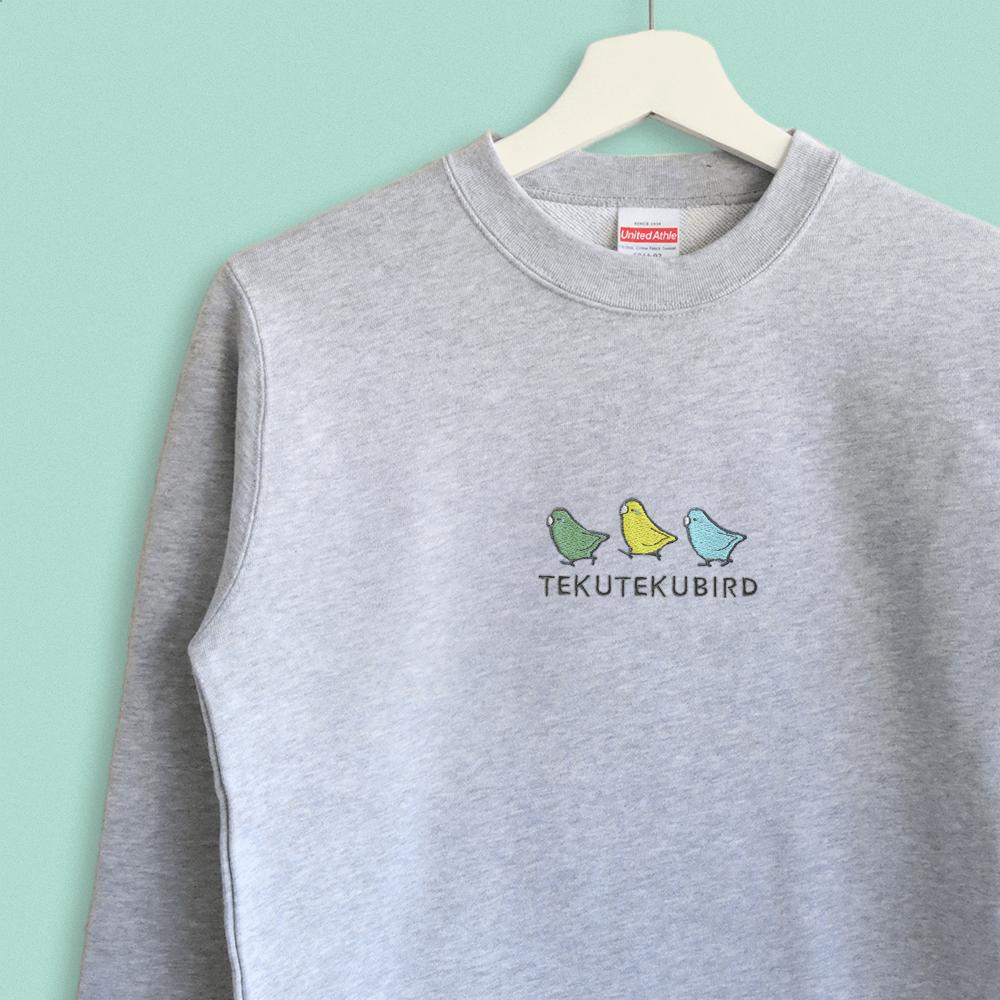スウェット トレーナー マメルリハのシンプル刺繍