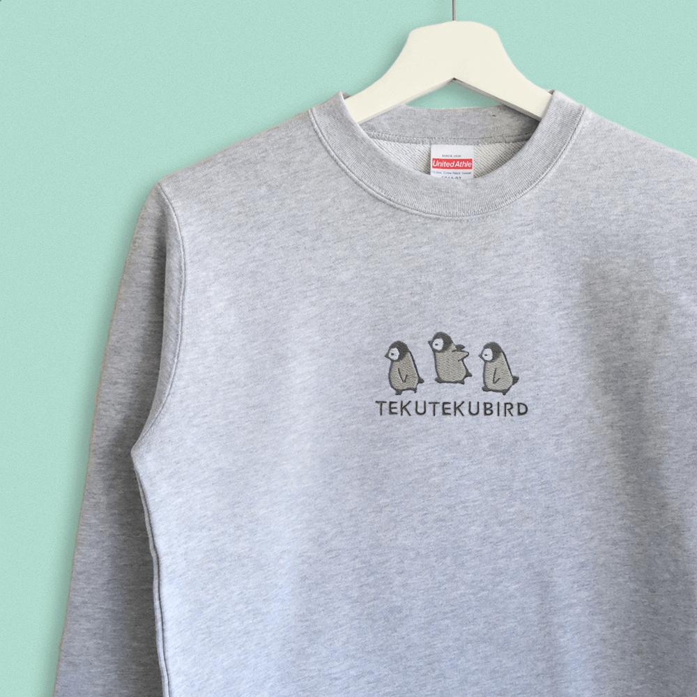 スウェット トレーナー コウテイペンギンのシンプル刺繍