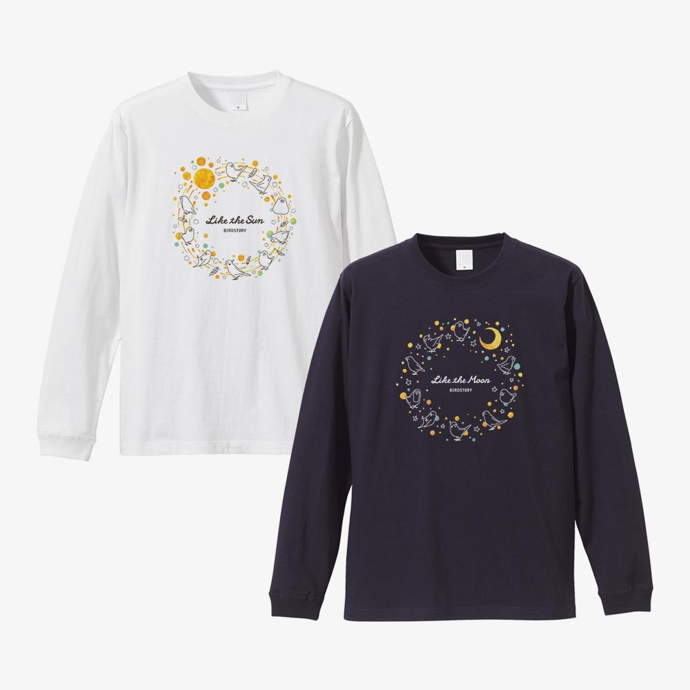 長袖Tシャツ(太陽と月)