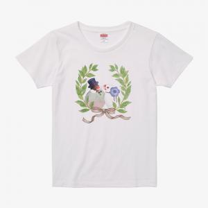 Tシャツ(文鳥院まめぞう / いつまでも幸せにくらしましたとさ)