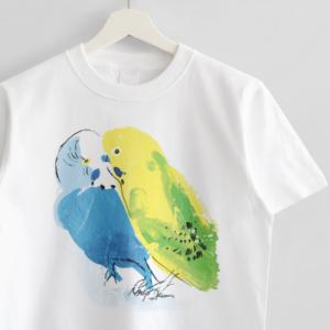 Tシャツ(オクムラミチヨ / なかよしセキセイインコさん)