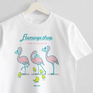 フラミンゴショップ Tシャツ BIRDSTORY