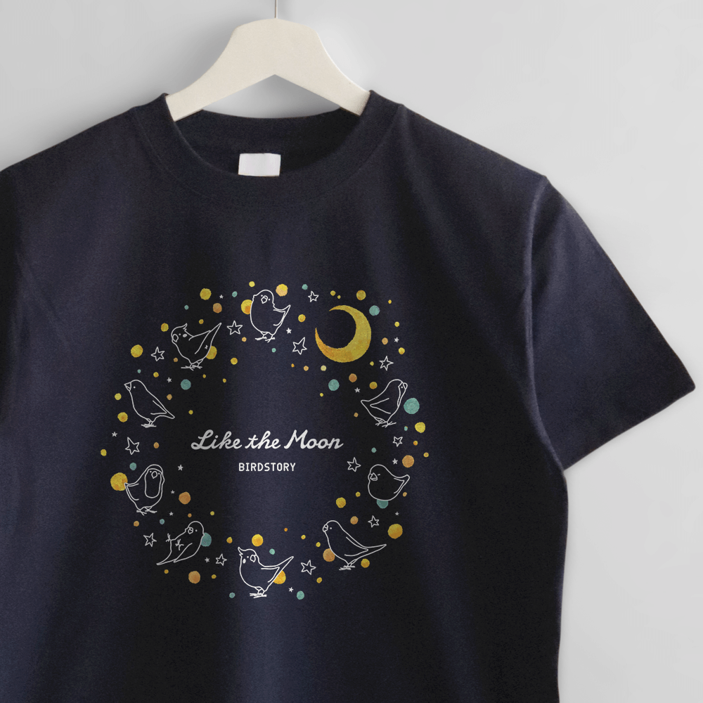 Tシャツ 月と太陽 コザクラインコ ブンチョウ