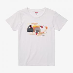 Tシャツ(オクムラミチヨ / 文鳥さんトリオ)