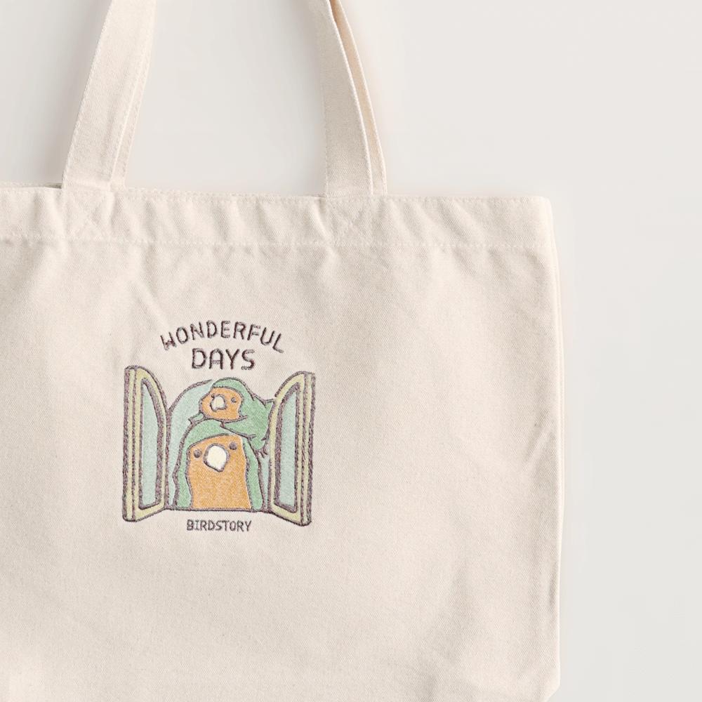 刺繍トートバッグ(WONDERFUL DAYS / コザクラインコ / ノーマル)
