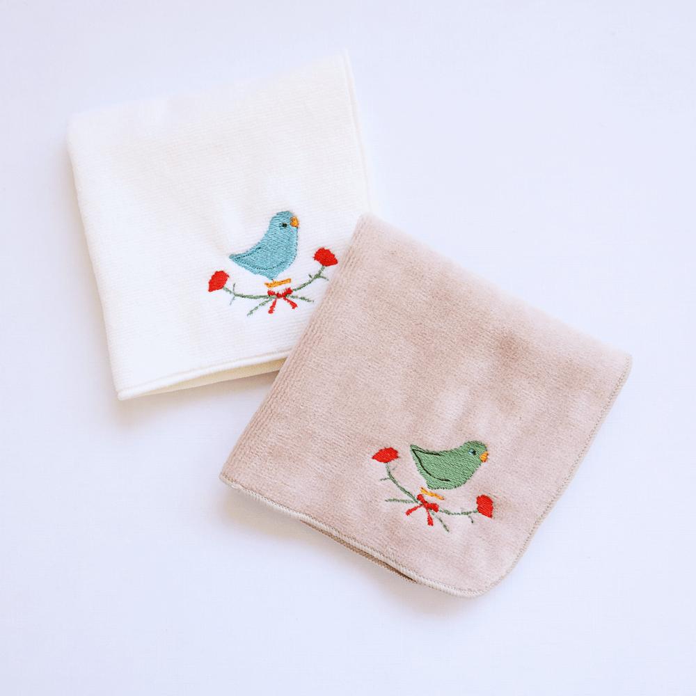 刺繍ミニタオル(マメルリハ / カーネーション)