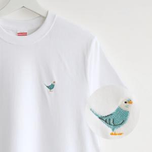 刺繍Tシャツ(BIRD!BIRD!BIRD! / セキセイインコ / ブルー)