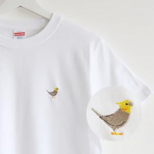 刺繍Tシャツ(BIRD!BIRD!BIRD! / オカメインコ / ノーマル)