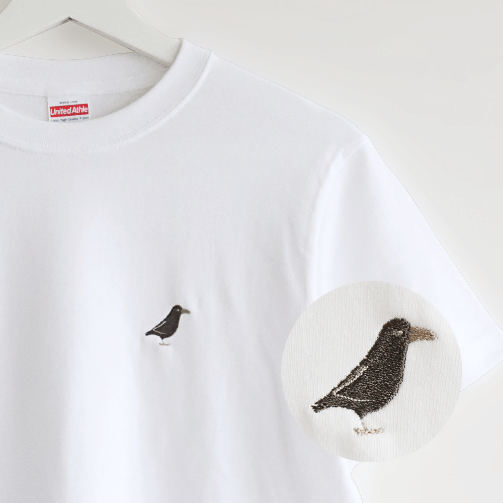 刺繍Tシャツ(BIRD!BIRD!BIRD! / カラス)