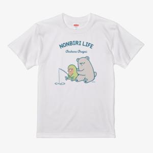 コザクラインコ イラスト クマ 釣り Tシャツ
